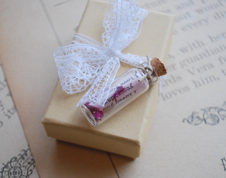 Love Note in a Jar Anniversary Gift Valentine Letter love