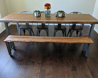 Live Edge Slab Dining Room Table