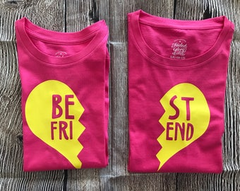 Best Friends Custom Matching T Shirt Set Infant, Toddler, Youth & Adult Sizes Available