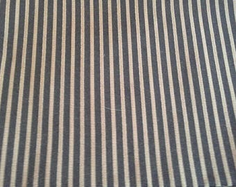 Black with Gold Stripes Home Decor Fabric 1 Yard X1115