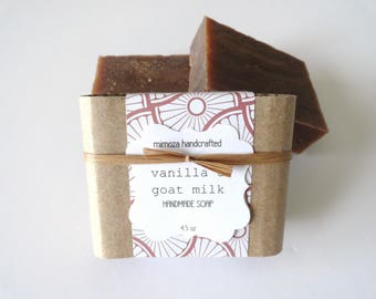 Handmade Vanilla Soap, Cold Process Soap, Goat Milk Soap 4.5oz