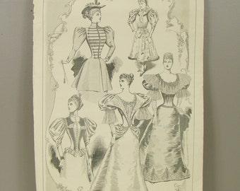 The Gentlewoman Magazine - Antique 1890s Era Victorian Print