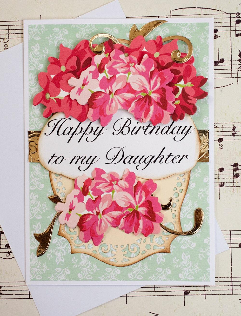 Daughter birthday card 3d birthday greeting card blank card zoom kristyandbryce Choice Image