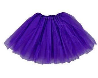 Purple Tulle Tutu Skirt- Baby Girl tutu-  Three layered tutu skirt- Pettiskirt