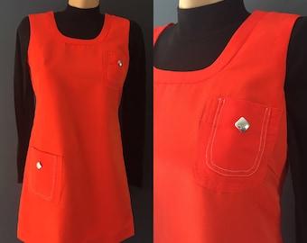 Red 60s mod dress