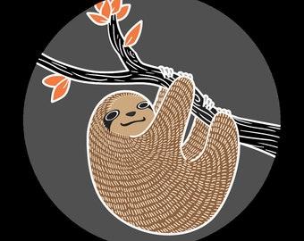 76mm Badge Sloth