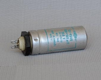 Vintage capacitor, Retro electronics, electrolytic, Electrical Parts, radio parts, electronic supply, electronic decor, steampunk electronic