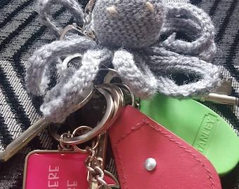 Crochet octopus keychain