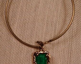 Bracelet- Vintage Green Drops
