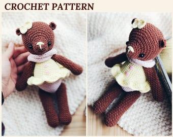 Crochet Bear Pattern Amigurumi Bear Vanilla Crochet Teddy Bear Crochet Toy Pattern PDF