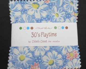 30's playtime Moda Mini Charm Packs by Chloe's Closet