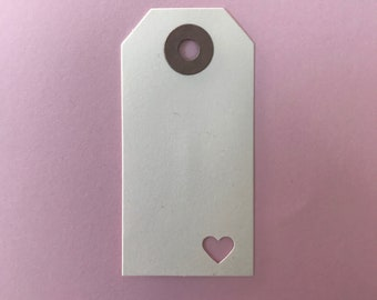 Heart Tags - pack of 10