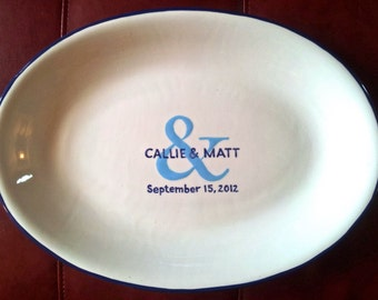 Wedding Guest Book Custom - Guest Book Plate - Signature Plate Guest Book - Ampersand