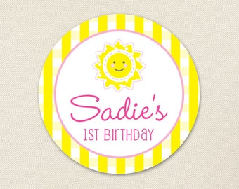 Sunshine Party - Custom Stickers - Sheet of 12 or 24