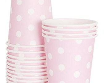 Dots Paper Cups Mashmallow Pink 12pc