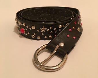 Vintage 1980's Studded Belt