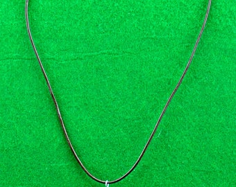 Green Puffed Heart Necklace
