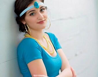 PRINCESS JASMINE HEADBAND,Aladdin,  Halloween Jasmine Costume Cosplay