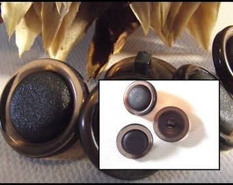 5 buttons 18 or 23 mm brown translucent & Brown * foot 1.8 cm 2.3 cm button haberdashery 0.90 0.71 in gold