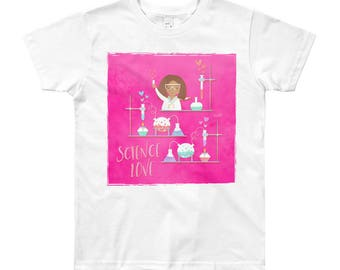 NAHLI Pink Science Love Kids' Tee 8-12yrs
