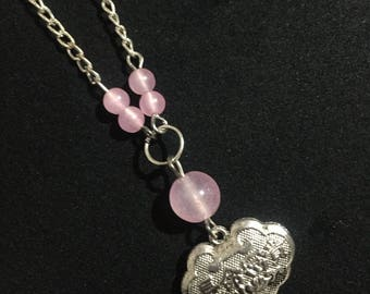 Pink Chalcedony Necklace