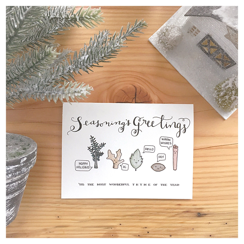 Seasons greetings christmas card holiday card funny christmas seasons greetings christmas card holiday card funny christmas card funny holiday card holiday pun christmas pun spices punny pun m4hsunfo