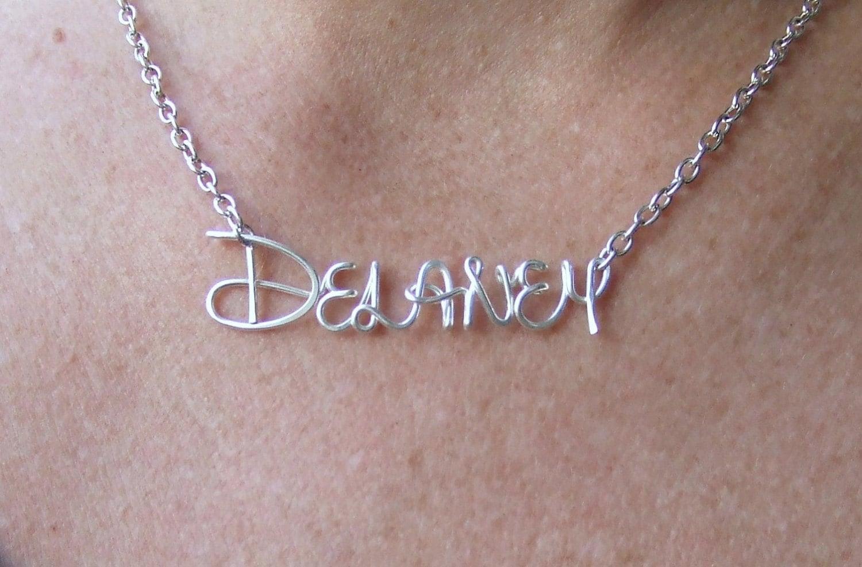 Disney name necklace personalized disney jewelry disney zoom aloadofball Gallery