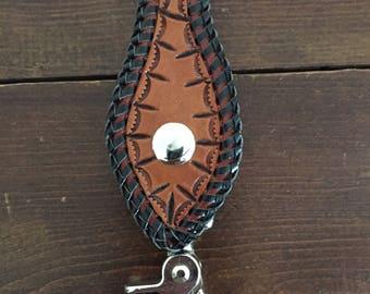Leather Belt Keychain