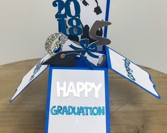 Graduation Card / Pop up Card / Card in a Box / Graduation Party Decoration