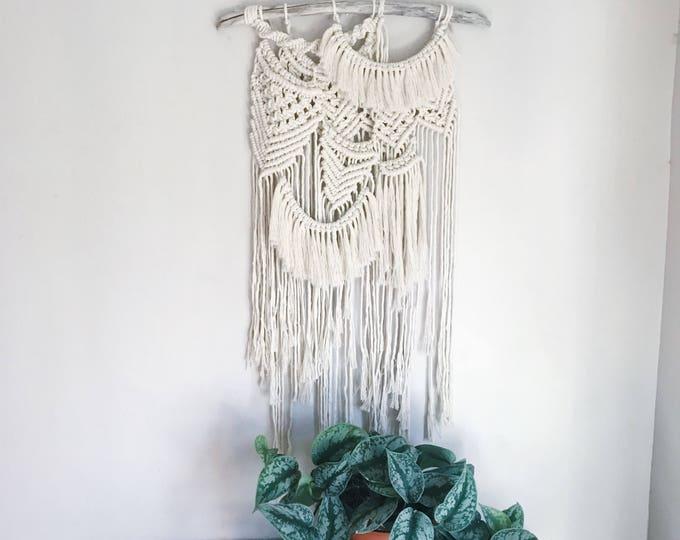 K A L I - large  handmade macrame wallhanging