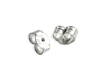 20 pcs Sterling Silver 6,3mm earring backs B6  ear nuts supplies jewelry