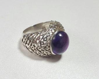 Amethyst Silver Ring