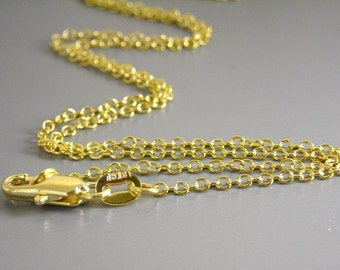 CHAIN-18KGF-2.5MMx2MM - 18K Gold Filled Finished Chain - Choose your length - 1 pc