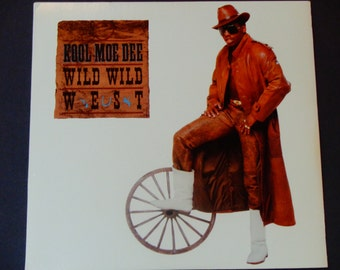 "Kool Moe Dee - Wild Wild West 12"" Maxi Single - Hip Hop - Jive Records 1988 - Vintage Vinyl LP Record Album"