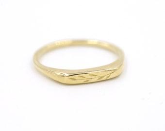 Olive Branch Signet Ring