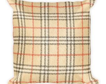 Fiji plaid print Square Pillow