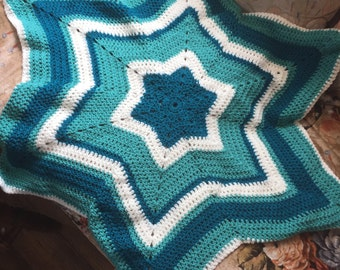 6 point star baby blanket