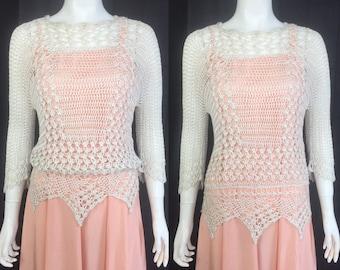 1920s crochet sweater / jumper / tunic