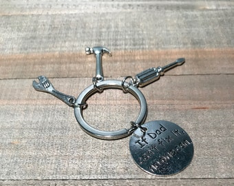 Dad keychain, fathers day gift, handy man tool charms