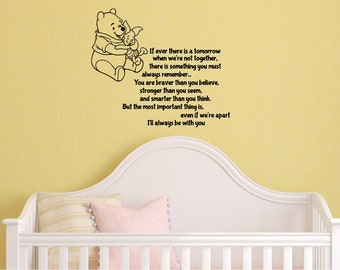 Winnie the Pooh Decal - Nursery Wall Decal - Pooh and Piglet