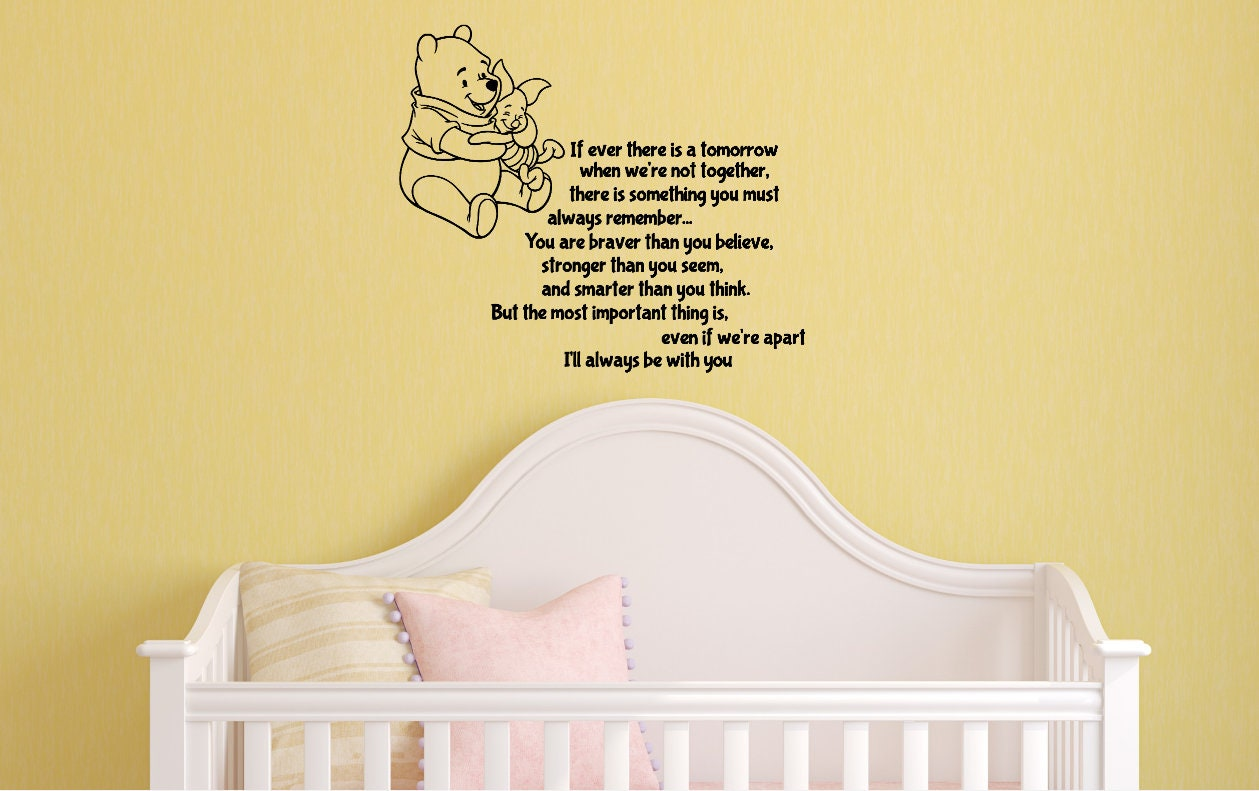 Winnie the Pooh Decal Nursery Wall Decal Pooh and Piglet