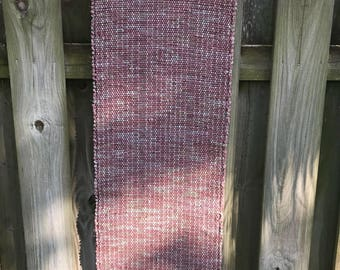 Shades of Rose and Pink Handwoven Recycled Rag Rug Runner