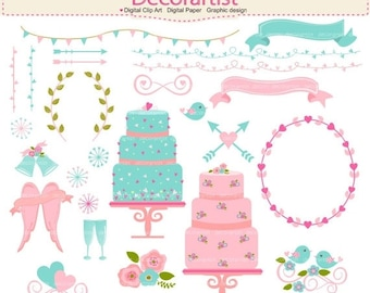 ON SALE clipart, wedding clipart, Ribbons clipart, cake clipart, Banners clipart, pink,arrows,Clip art ,frames,birds,floral clip art,INSTANT