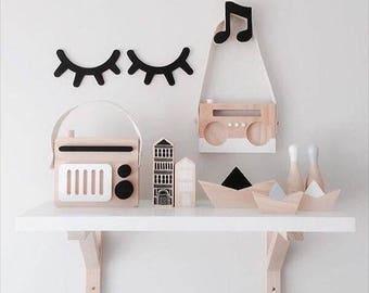 Cute Sleepy Eyes | Nordic Style Nursery Room Decor