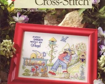 Garden-Fresh Cross-Stitch softcover book