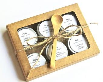 Sea Salt Gift, 6 Tins of Gourmet Sea Salt, Chef Gift Set, Foodie Gift, Finishing Salt, Seasoning Salt Sampler, Father's Day Seasoning Gift