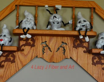 Ceramic Silly Ghosts
