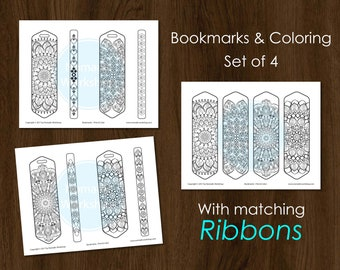 Bookmark Coloring Mandala Bookmark Printable bookmark Coloring for adults Custom bookmark Book Accessories Mandala Bookmark for books Prints