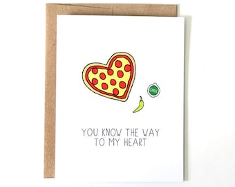 Valentine's Day Card - Heart Pizza