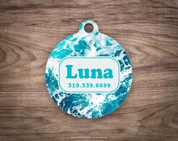 Dog Tag Ocean Dog Tag for Collar Cute Pet ID Tag Custom Dog Name Tag Puppy Tag Personalized Dog ID Tag Custom Pet Tag for Dog